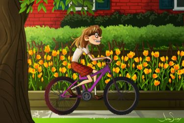 Biking Home by jbsdesigns