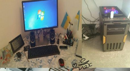 My new computer set up by LilianBell