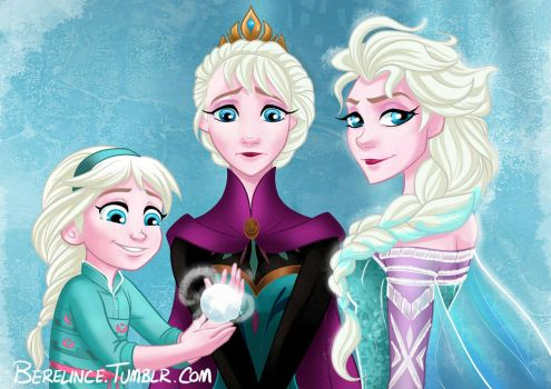 the princess, the queen and the snow queen by Berelince