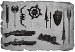 TERA - event - Assassin weapons skins by Tiffli