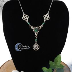 Celtic necklace green jewelry Celtic elf necklace by Nyjama