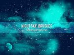 Night Sky Free Brushes by xara24