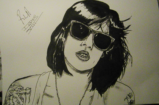 A Sketch of Brody Dalle by RLAmaro
