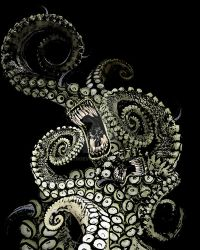 Shoggoth like monster by AltroEvo