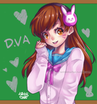 D.VA school uniform by iamtabbychan