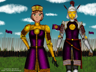 The Empress and her army by Avantharis