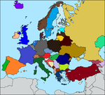 Europe Map (fillable) by SpringTrapthebest
