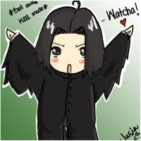 Chibi Snape for Endoh-sama by Juu-B
