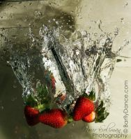 Strawberries Splash by BarflyDance