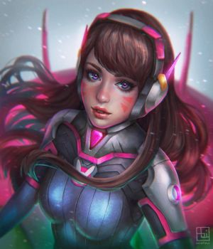 D.VA - Overwatch by serafleur