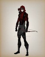 the cw arsenal (red arrow) Character design by bigoso91