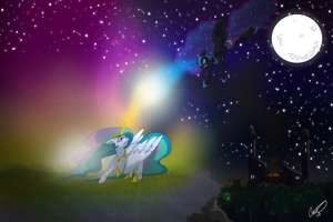 The Battle for Day and Night by CCKittyCreative