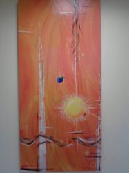 Orange Abstract by Tamilia