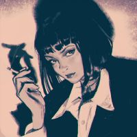 Mia Wallace sketch by Kuvshinov-Ilya