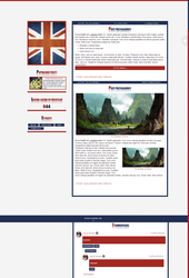 Blogspot template Great Britain by Halucynowaaa