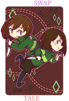 SF!Chara x UT!Chara by bluegin-kin