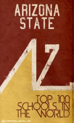 Arizona State Retro Poster by DaNoTomorrow