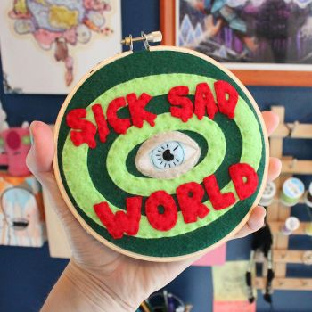 Sick, Sad World Hoop by loveandasandwich