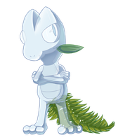 Snow/Ice Treecko by Cloudy-Eevee