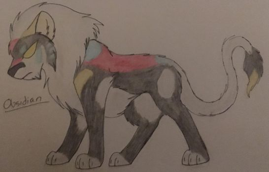 Obsidian the Black Lion by WolfLover595