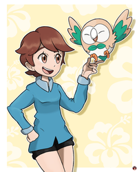 Maria and Rowlet by Alexalan