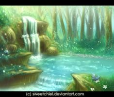Waterfall by SweetChiel