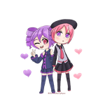 Defoko and teto color swap by 2strawberry4you