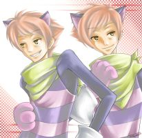 Ouran - Cat One Cat Two by ruina