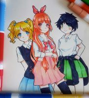 The Powerpuff Girls by sugachi