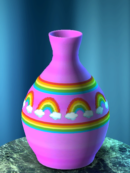 Pink Rainbow Vase by Butterflytracks