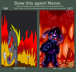 Before And After - Wrath of Necroshade- by kongless34