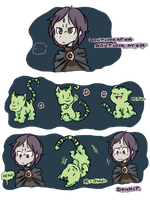 No one resists green kitties by DiachanX