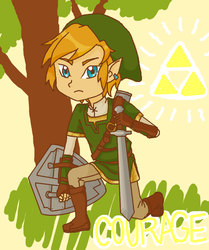 Triforce of courage by JennaBrowne
