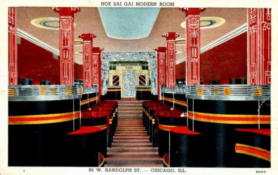 Vintage Chicago - Art Deco Dining Room by Yesterdays-Paper