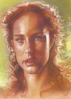 Padme from Star Wars- ACEO by JeffLafferty