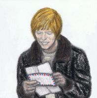 David Bowie reading a fanletter by gagambo