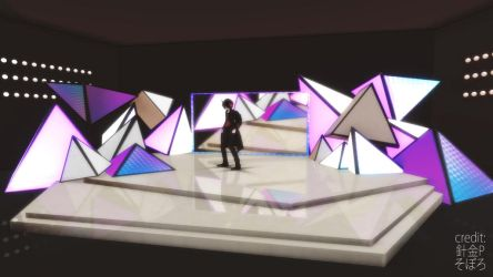 [MMD STAGE DL] Triangle Stage by CathyZhang