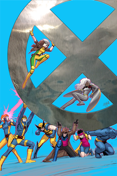 X-Men '92 #4 Variant Cover by DNA-1