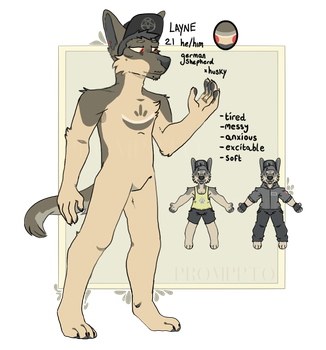 Layne :: ANTHRO Reference Sheet by promppto