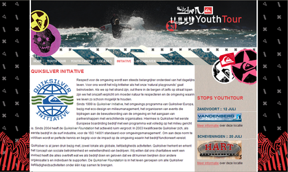 Quiksilver Youthtour Website by maurice