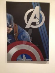 Captain America painting on canvas by renzverse