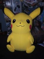 Giant Pikachu Plush by HannahDoma