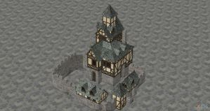 XNALARA XPS Model Release!! Medieval House 2 by Fuzzy-Moose