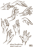 Studying Hands by VactuART