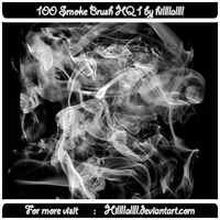 100 Smoke Brush HQ 1 by Hillllallll by hillllallll