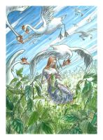The wild swans by martinacecilia