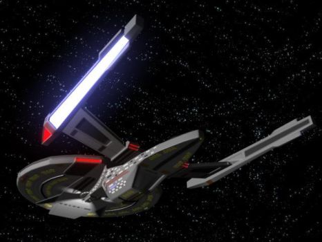 USS Titan 'Prototype' Aft by thequestionmark