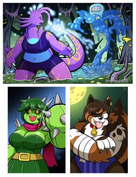 October Patreon Wallpapers - Frighting Fists!!! by greliz