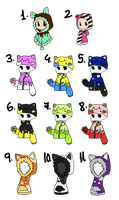 Outfit Adopts 1 CLOSED by Artistic-Mii-Adopts