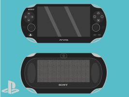 Flat PsVita (Front and Back) by GrubyKisiel